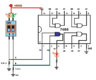 conexiones en IC 7408